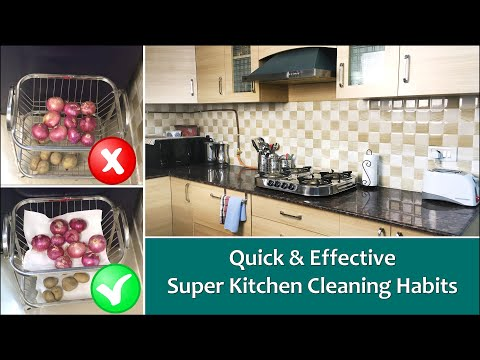 10 Best Habits For A Clean Kitchen | How To Keep Kitchen Clean And Organized | Kitchen Cleaning Tips