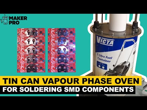 Tin can vapour phase oven for soldering SMD components