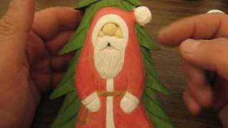 Hobo Santa With A Tree ( Deep Relief) #16 ( End)