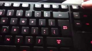 AGPtek Blue and Red LED Illuminated Ergonomic Backlit Gaming Game USB Wired Keyboard PC