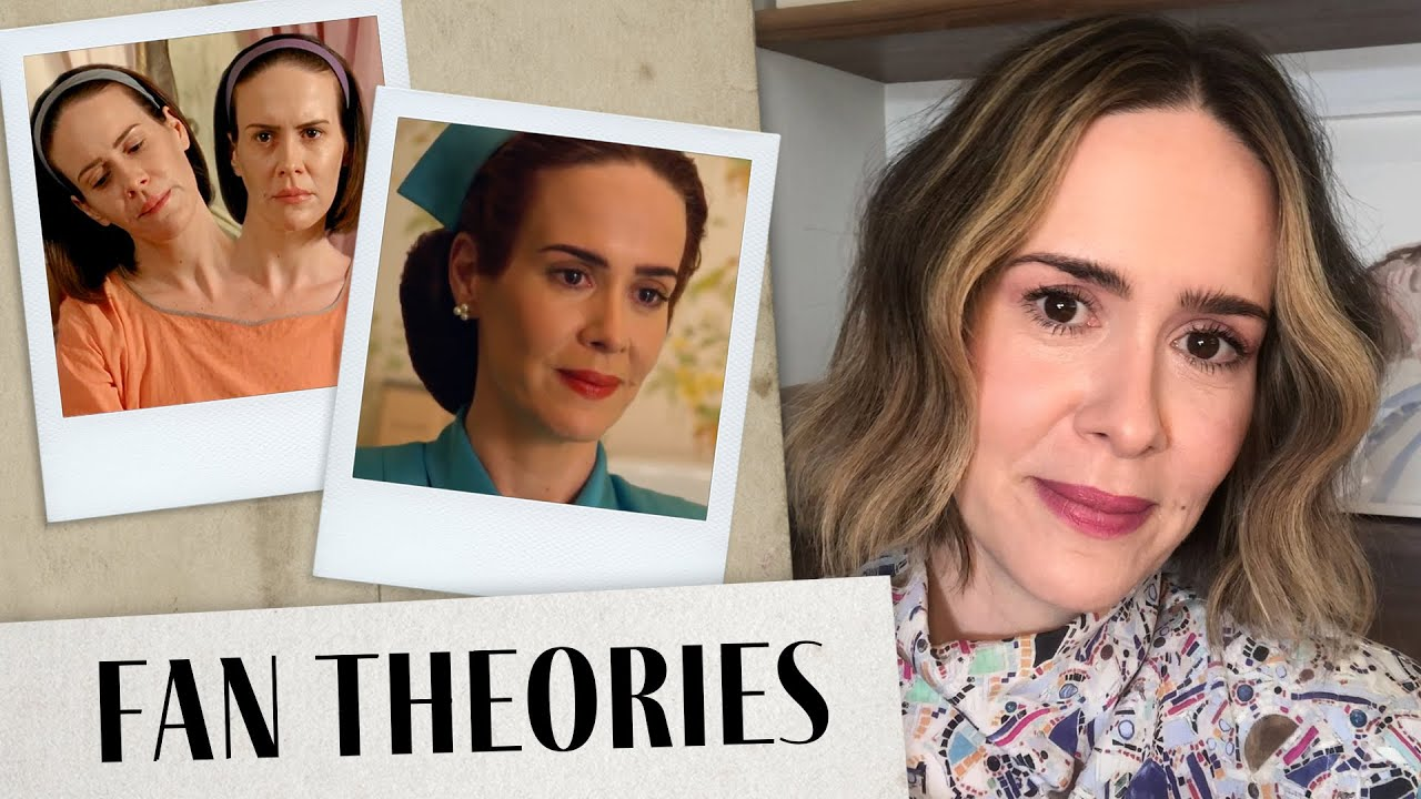 Sarah Paulson Reacts to Ratched and AHS Fan Theories | For The Record | Harper's BAZAAR