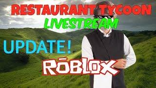 ( UPDATE!) Roblox livestream Let's start! #65 Restaurant tycoon! :D #10000subscribersgoal HD