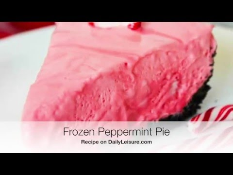Frozen Peppermint Pie - YouTube