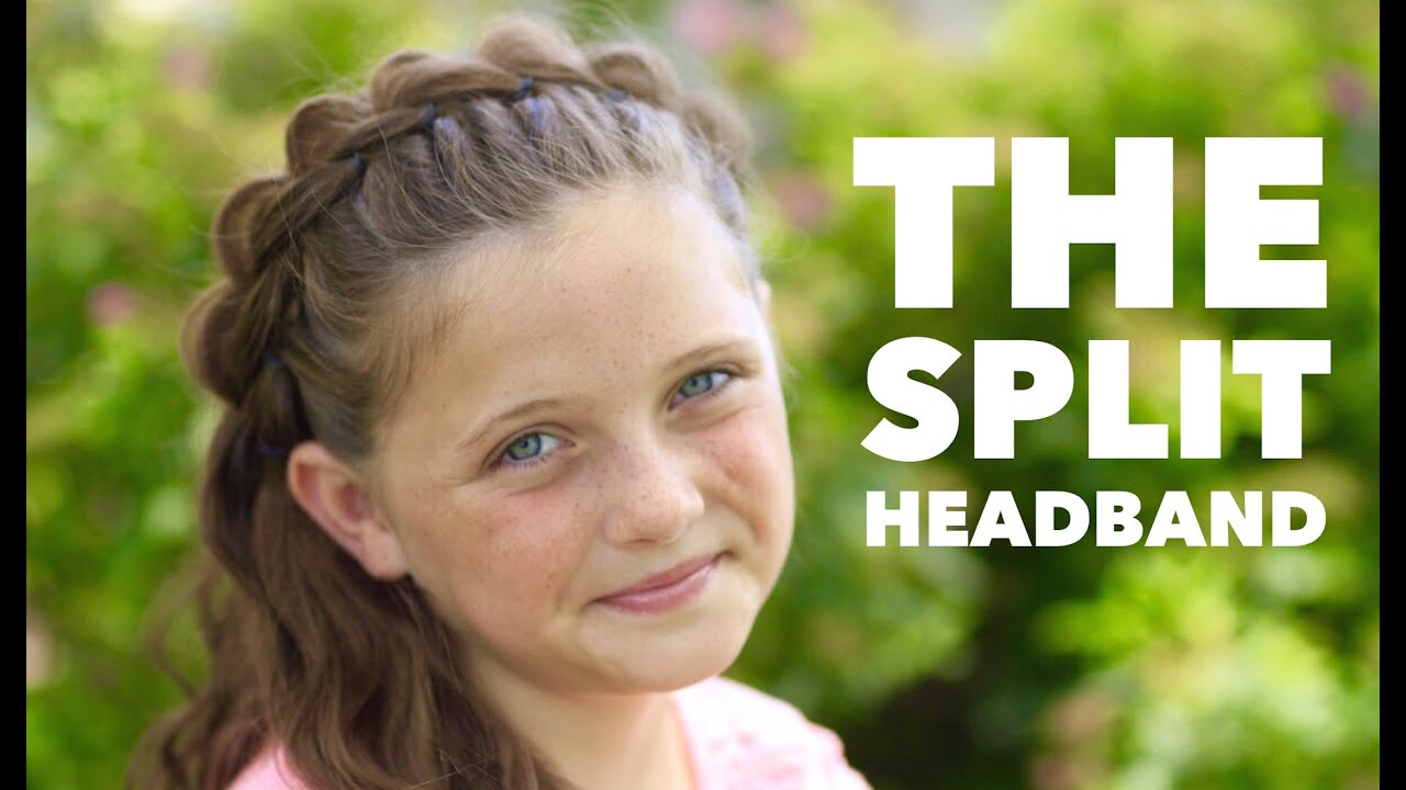 the split headband | cute girls hairstyles - youtube