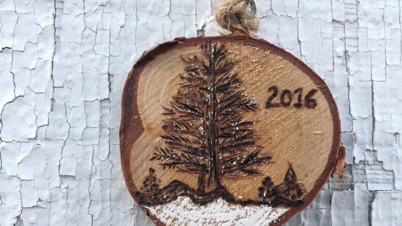 Wood Burned Ornament Wood Burning Timelapse