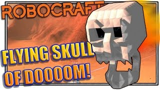 "Robocraft Ship Design ""The Flying Skull of DOOOM"" (Robocraft gameplay)"