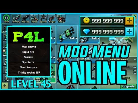 [NO ROOT] [Ios And Andriod] PIXEL GUN 3D LEVEL 45 MOD MENU HACK CRACK V2 ALL VERSIONS (ONLINE)