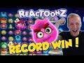RECORD WIN!!! Reactoonz Big win - Casino - Online slots - Jackpot