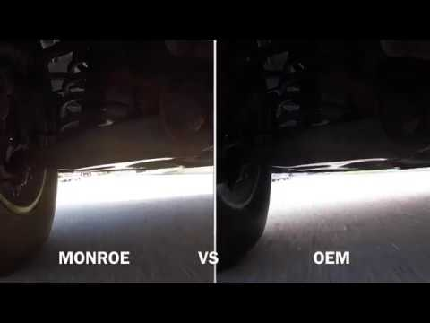 Side By Side Video Comparison  - New Monrow Shocks Vs Old OEM Shocks