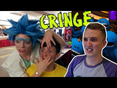 Reacting To Rick & Morty Fans **cringe warning**
