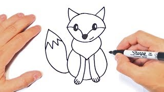 How to draw a Fox for kids | Fox Easy Draw Tutorial