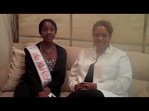 Miss Black USA Osas Ighodaro Ajibade visit Celebrity Dentist Dr. Catrise Austin Dental Hygiene Month