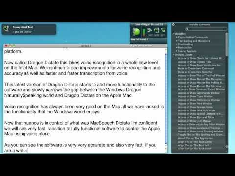Dragon Dictate from Nuance - Voice Recognition For Apple Mac
