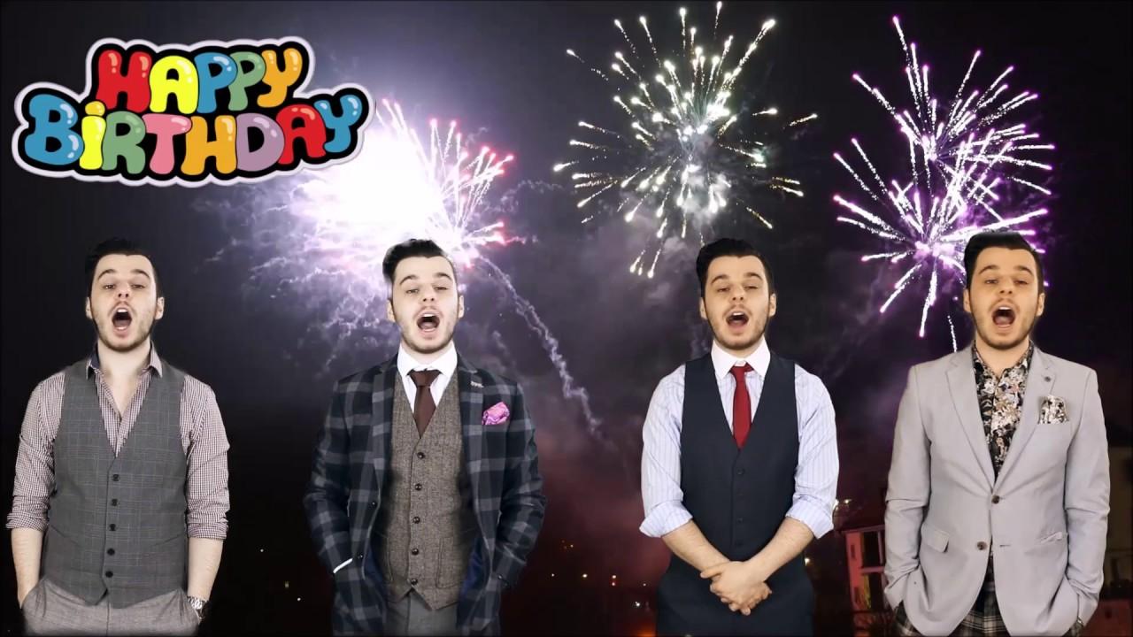 One Man Barbershop Quartet - Happy Birthday Song - YouTube