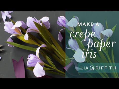 How to Make a Crepe Paper Iris