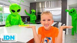Vlad dan anak anak bercerita tentang alien