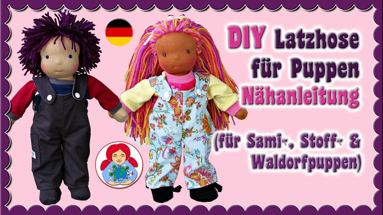 DIY | Latzhose für Puppen | Schritt für Schritt Anleitung • Sami ...