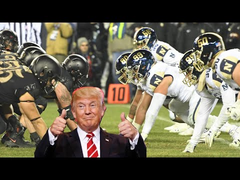 President Donald Trump RECEIVES MASSIVE SUPPORT at ARMY vs NAVY GAME! WOKE SPORTS TAKES THE L!