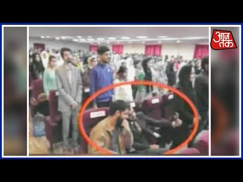 Students Refuse To Sing National Anthem, Clicks Selfie At Rajouri university
