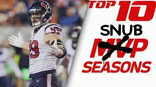 Top 10 MVP Snubs of All-Time | NFL Highlights