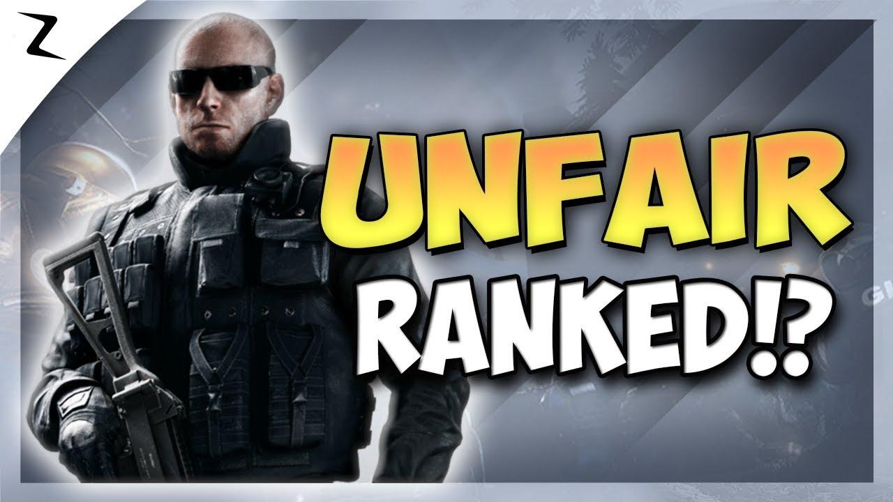 Rainbow 6 siege unfair matchmaking