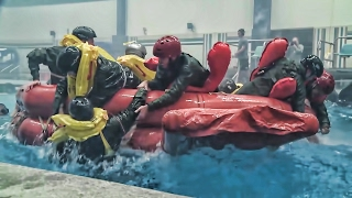 NASA Astronauts Join Students In Water Survival Training