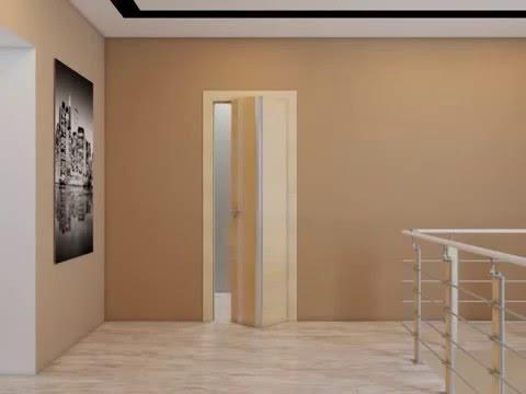 Складные двери система Kraft (Крафт). Встроенный шкаф в нишу. Шкаф .