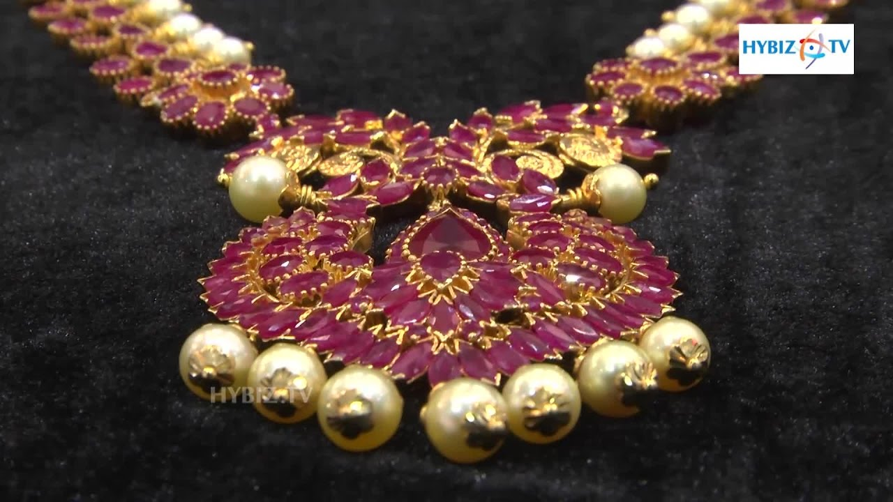 22 karat gold attiga necklace with rubies amp emerald jewelery