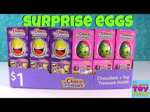 Choco Treasure Emoji Shopkins Chocolate Surprise Egg Palooza Opening | PSToyReviews