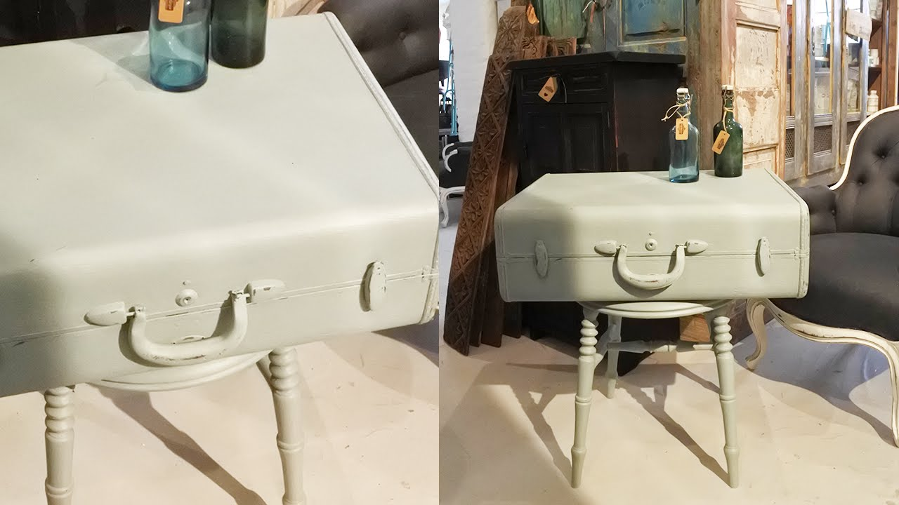 DIY - Gör ett sidobord av en gammal koffert - DIY Side table from old trunk  - YouTube b6e2857772c76