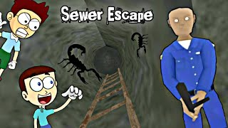 Sewer Escape -  Evil Officer Horror House Escape | Shiva and Kanzo Gameplay