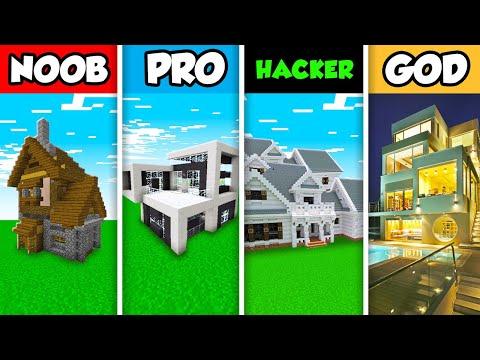 minecraft-noob-vs.-pro-vs.-hacker-vs-god-:-luxury-family-house-build-challenge-in-minecraft!