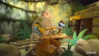 [4K] The Smurfs Dark Ride - Smurfs Studio Tour ride - Motiongate