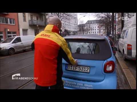 TV Doku: DHL testet Kofferraum-Zustellung in Berlin