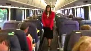 Onboard Acela Express Train Ride With Gps Inside First Class