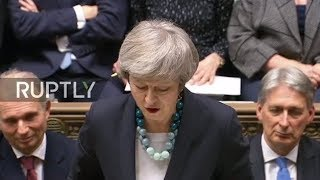 LIVE: British PM Theresa May addresses Parliament on Brexit