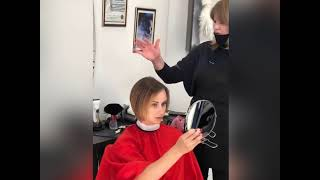 Сделать женскую стрижку на короткие волосы КАРЕ в Броварах Елена Швыдак салон красоты La Familia