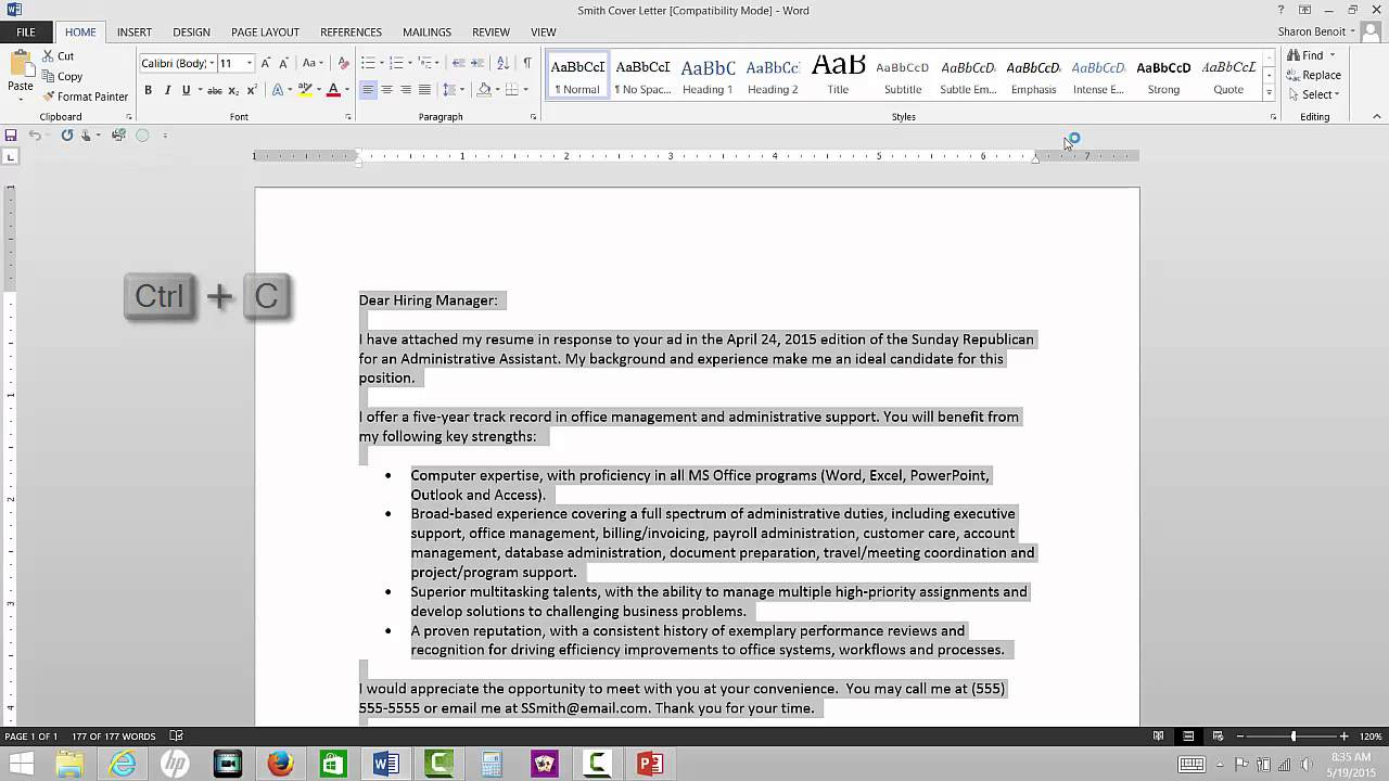 Resume Resume Body Of Email how to email a resume youtube resume