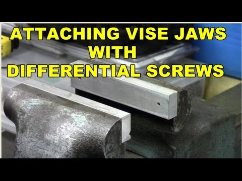 Differential Screw Vise Jaws