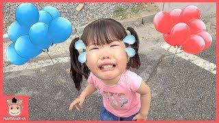 색깔 풍선 뽑기 했는데 하늘로 날라갔어요! 슬픈 헬륨풍선 놀이 ♡ 타요 버스 장난감 인기동요 kids learn colors tayo bus | 말이야와아이들 MariAndKids