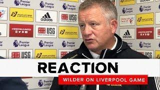Chris Wilder | Sheffield United v Liverpool | Reaction interview