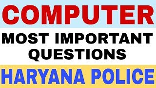 COMPUTER GK QUESTION FOR HARYANA POLICE EXAM