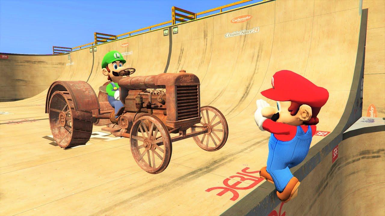 Mario & Luigi in GTA 5 Ragdolls Compilation [Euphoria Physics] - Episode 8