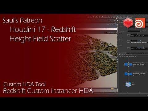 Houdini 17 - Custom HeightField Redshift Instancer Tool