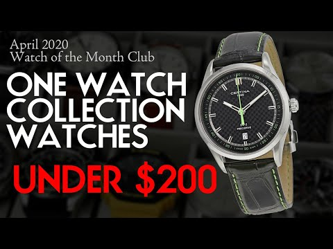 10 Best One Watch Collection Watches Under $200 - April 2020 Watch Of The Month Club