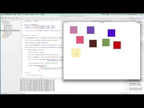 iOS Development Course Beginner - 22. Touches. Simple Drag and Drop