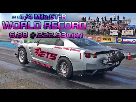 WORLD RECORD!!! | ETS goes 6.88@222 | the quickest and fastest Nissan GTR R35 1/4 mile