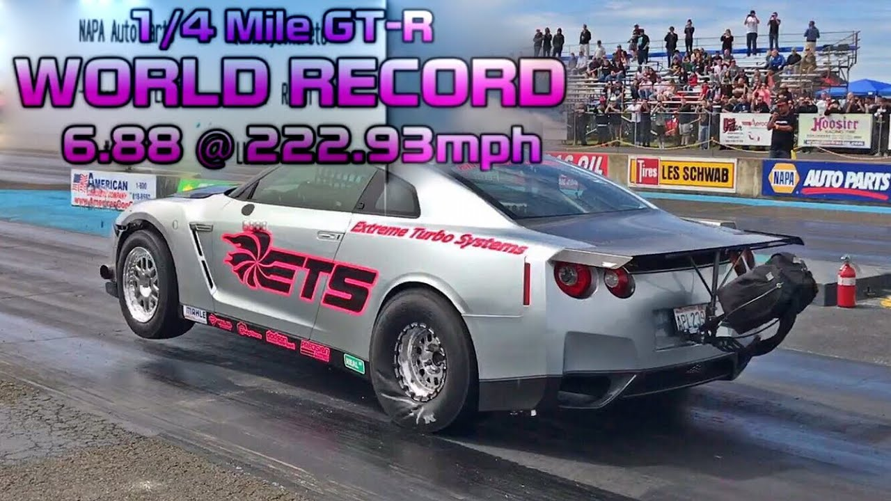 world record ets goes the fastest nissan gtr r35 1 4 mile youtube. Black Bedroom Furniture Sets. Home Design Ideas