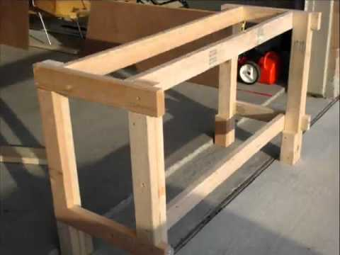 How to build a workbench in only a few steps youtube for Working table design ideas