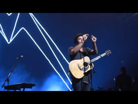 Joel Houston exhorting during the Hillsong United Live in Manila 2014